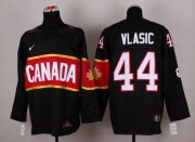 Wholesale Cheap Olympic 2014 CA. #44 Marc-Edouard Vlasic Black Stitched NHL Jersey