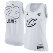 Wholesale Cheap Nike Cleveland Cavaliers #23 LeBron James White Women's NBA Jordan Swingman 2018 All-Star Game Jersey