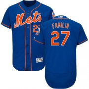 Wholesale Cheap Mets #27 Jeurys Familia Blue Flexbase Authentic Collection Stitched MLB Jersey