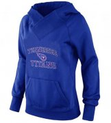 Wholesale Cheap Women's Tennessee Titans Heart & Soul Pullover Hoodie Blue