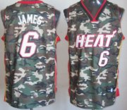 Wholesale Cheap Miami Heat #6 LeBron James Camo Fashion Jersey