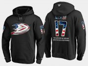 Wholesale Cheap Ducks #17 Ryan Kesler NHL Banner Wave Usa Flag Black Hoodie