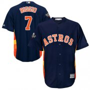 Wholesale Cheap Astros #7 Craig Biggio Navy Blue New Cool Base 2019 World Series Bound Stitched MLB Jersey