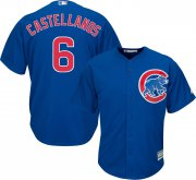 Wholesale Cheap Cubs #6 Nicholas Castellanos Blue New Cool Base Stitched MLB Jersey