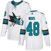Wholesale Cheap Adidas Sharks #48 Tomas Hertl White Road Authentic Stitched Youth NHL Jersey