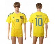 Wholesale Cheap Ukraine #10 Voronin Home Soccer Country Jersey