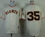 Wholesale Cheap Giants #35 Brandon Crawford Cream Cool Base Stitched MLB Jersey