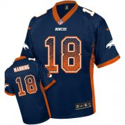 Wholesale Cheap Nike Broncos #18 Peyton Manning Blue Alternate Youth Stitched NFL Elite Drift Fashion Jersey