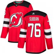 Wholesale Cheap Adidas Devils #76 P.K. Subban Red Home Authentic Stitched NHL Jersey
