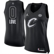 Wholesale Cheap Nike Cleveland Cavaliers #0 Kevin Love Black Women's NBA Jordan Swingman 2018 All-Star Game Jersey