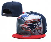 Wholesale Cheap Patriots Team Logo Navy Red Adjustable Leather Hat TX