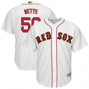 Wholesale Cheap Red Sox #50 Mookie Betts White 2019 Gold Program Cool Base Stitched MLB Jersey