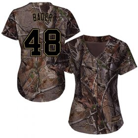 Wholesale Cheap Cardinals #48 Harrison Bader Camo Realtree Collection Cool Base Women\'s Stitched MLB Jersey