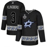 Wholesale Cheap Adidas Stars #3 John Klingberg Black Authentic Team Logo Fashion 2020 Stanley Cup Final Stitched NHL Jersey