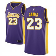 Wholesale Cheap Nike Los Angeles Lakers #23 LeBron James Purple NBA Swingman Statement Edition Jersey