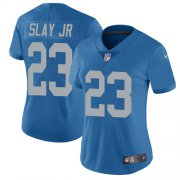 Wholesale Cheap Nike Lions #23 Darius Slay Jr Blue Throwback Women's Stitched NFL Vapor Untouchable Limited Jersey