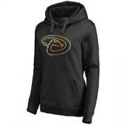 Wholesale Cheap Women's Arizona Diamondbacks Gold Collection Pullover Hoodie Black