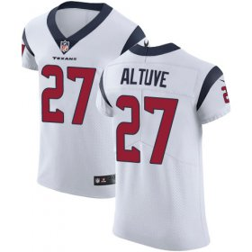 Wholesale Cheap Nike Texans #27 Jose Altuve White Men\'s Stitched NFL Vapor Untouchable Elite Jersey
