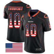 Wholesale Cheap Nike Bears #10 Mitchell Trubisky Black Men's Stitched NFL Limited Rush USA Flag Jersey