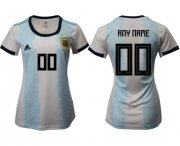 Wholesale Cheap Women's Argentina Personalized Home Soccer Country Jersey