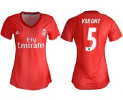 Wholesale Cheap Women's Real Madrid #5 Varane Third Soccer Club Jersey