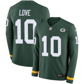 Wholesale Cheap Nike Packers #10 Jordan Love Green Team Color Youth Stitched NFL Limited Therma Long Sleeve Jersey