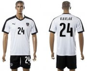 Wholesale Cheap Austria #24 Kavlak White Away Soccer Country Jersey