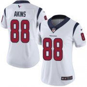 Wholesale Cheap Nike Texans #88 Jordan Akins White Women's Stitched NFL Vapor Untouchable Limited Jersey