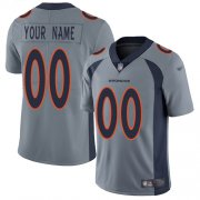 Wholesale Cheap Nike Denver Broncos Customized Gray Men's Stitched NFL Limited Inverted Legend Jersey