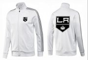 Wholesale Cheap NHL Los Angeles Kings Zip Jackets White-2
