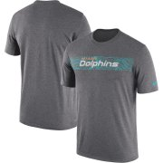 Wholesale Cheap Miami Dolphins Nike Sideline Seismic Legend Performance T-Shirt Charcoal