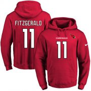 Wholesale Cheap Nike Cardinals #11 Larry Fitzgerald Red Name & Number Pullover NFL Hoodie