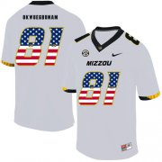 Wholesale Cheap Missouri Tigers 81 Albert Okwuegbunam White USA Flag Nike College Football Jersey