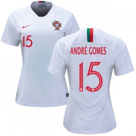 Wholesale Cheap Women\'s Portugal #15 Andre Gomes Away Soccer Country Jersey