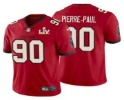 Wholesale Cheap Men's Tampa Bay Buccaneers #90 Jason Pierre-Paul Red 2021 Super Bowl LV Limited Stitched NFL Jersey