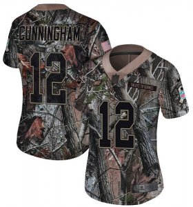 Wholesale Cheap Nike Eagles #12 Randall Cunningham Camo Women\'s Stitched NFL Limited Rush Realtree Jersey