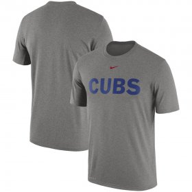 Wholesale Cheap Chicago Cubs Nike Legend Primary Logo Performance T-Shirt Heathered Gray