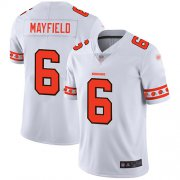 Wholesale Cheap Nike Browns #6 Baker Mayfield White Men's Stitched NFL Limited Team Logo Fashion Jersey