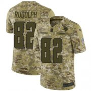 Wholesale Cheap Nike Vikings #82 Kyle Rudolph Camo Youth Stitched NFL Limited 2018 Salute to Service Jersey