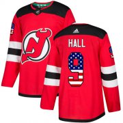 Wholesale Cheap Adidas Devils #9 Taylor Hall Red Home Authentic USA Flag Stitched Youth NHL Jersey