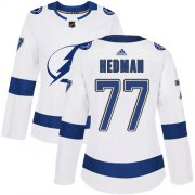 Cheap Adidas Lightning #77 Victor Hedman White Road Authentic Women's Stitched NHL Jersey