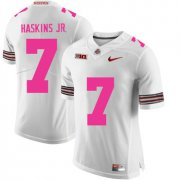 Wholesale Cheap Ohio State Buckeyes 7 Dwayne Haskins White 2018 Breast Cancer Awareness College Football Jersey