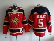 Wholesale Panthers #5 Aaron Ekblad Red Sawyer Hooded Sweatshirt Stitched NHL Jersey