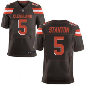 Wholesale Cheap Nike Browns #5 Drew Stanton Brown Team Color Men\'s Stitched NFL New Elite Jersey