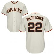 Wholesale Cheap Giants #22 Andrew McCutchen Cream New Cool Base Stitched MLB Jersey
