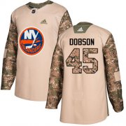 Wholesale Cheap Adidas Islanders #45 Noah Dobson Camo Authentic 2017 Veterans Day Stitched NHL Jersey