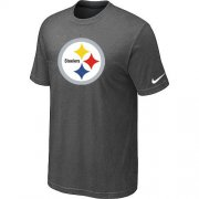 Wholesale Cheap Pittsburgh Steelers Sideline Legend Authentic Logo Dri-FIT Nike NFL T-Shirt Crow Grey