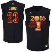 Wholesale Cheap Men's Cleveland Cavaliers LeBron James #23 adidas Black 2016 NBA Finals Champions Jersey-Printed Style