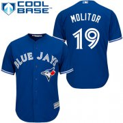Wholesale Cheap Blue Jays #19 Paul Molitor Blue Cool Base Stitched Youth MLB Jersey