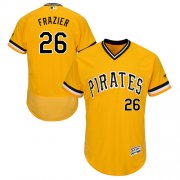 Wholesale Cheap Pirates #26 Adam Frazier Gold Flexbase Authentic Collection Stitched MLB Jersey
